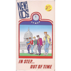 New Kids on the Block / In Step...Out of Time (Animated TV Show) (VHS)